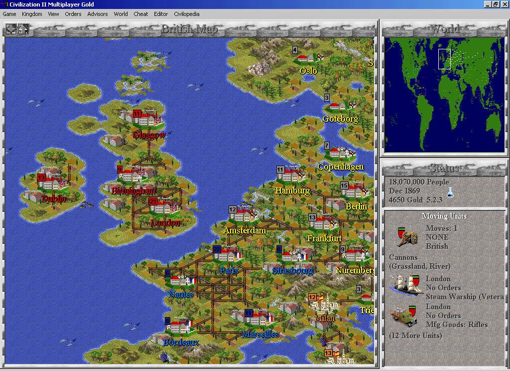 Civilization II Industrial Scenarios CivFanatics - Japan map civ 5